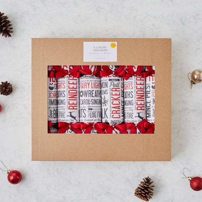 Festive Fun Christmas Crackers Box of 6