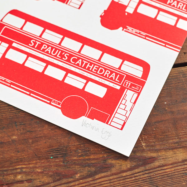 London Bus Screen Print