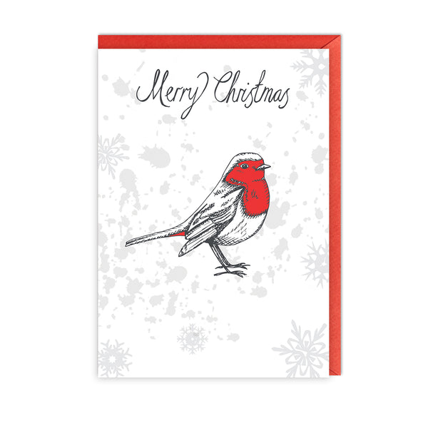 Christmas Robin Greeting Card - Pack of 5