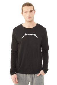 Meditation Unisex Long Sleeve Crew - Black