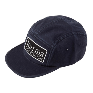 Modern 5 Panel Logo Hat - Black