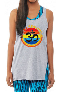 Karma Om Women's Side Kick Tank Top - Heather Grey