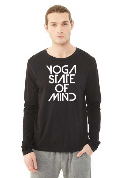 Yoga State of Mind Unisex Long Sleeve Crew - Black
