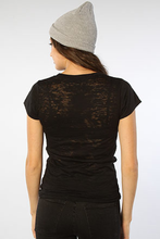 Meditation Women's Burnout Tee - Burnout Black