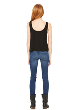 Meditation Women's Flowy Boxy Tank - Midnight Black