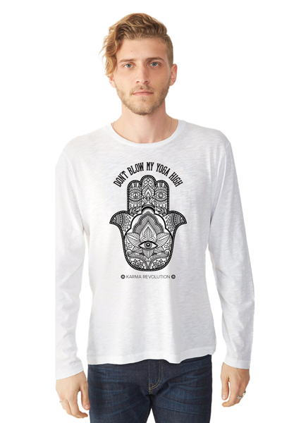 SOLD OUT Hamsa Unisex Long Sleeve Crew - White