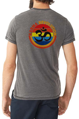 Karma Om - Unisex Pocket V-Neck Tee - Coal