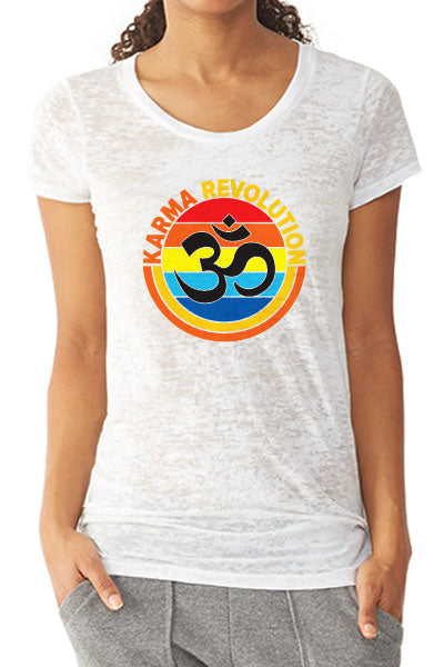 Karma Om Women's Burnout T-Shirt