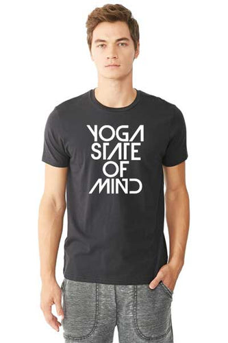 Yoga State of Mind Unisex Organic Pima Tee - Black