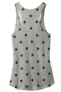 Virginia is for Yoga Lovers Women's Racerback Tank - Heather Grey/Stars