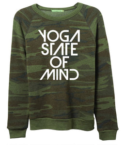 Yoga State of Mind Women's Fleece Sweatshirt - Camo