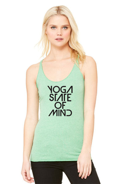 Yoga State of Mind Women's Racerback Tank - Green