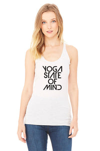 Yoga State of Mind Women's Racerback Tank - White Fleck