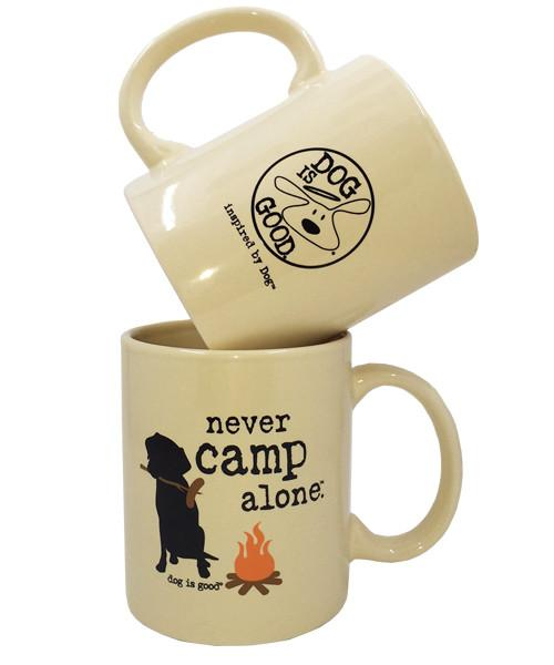 Dog Lover & Camping Enthusiast Mug - Never Camp Alone