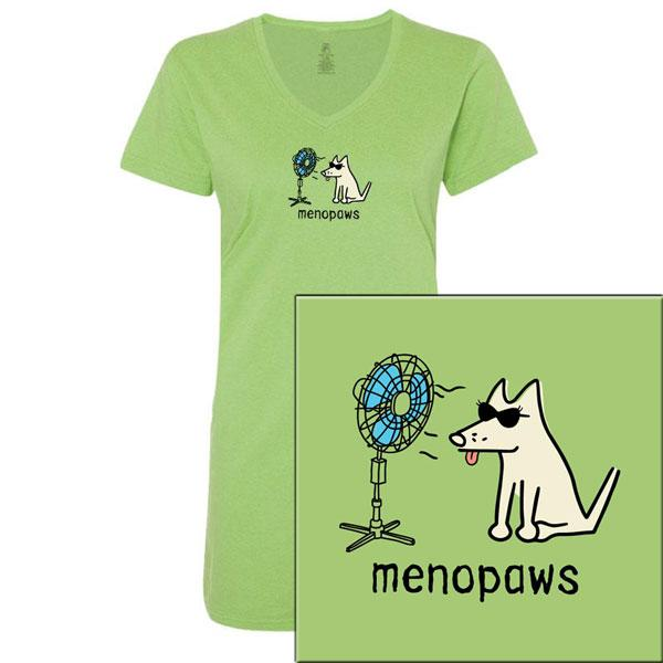 Poocheo:Teddy the Dog Ladies Night Tee - Menopaws LIMITED RUN