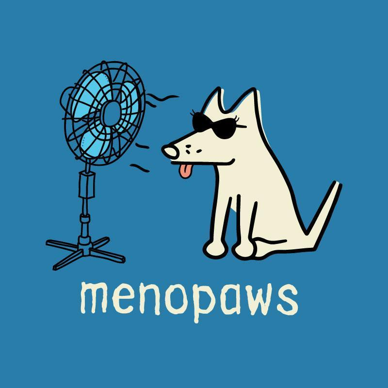 Poocheo:Teddy the Dog Ladies V-Neck Tee - Menopaws LIMITED RUN