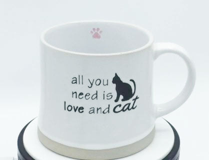All You Need is Love and a Cat (White) - Mug by Spectrum