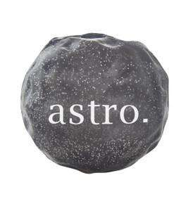 "Astro Orbee-Tuff Cosmos - at 2.75"", this sparkly, textured dog ball is ideal for medium to large pups who love to fetch, chew and play!"