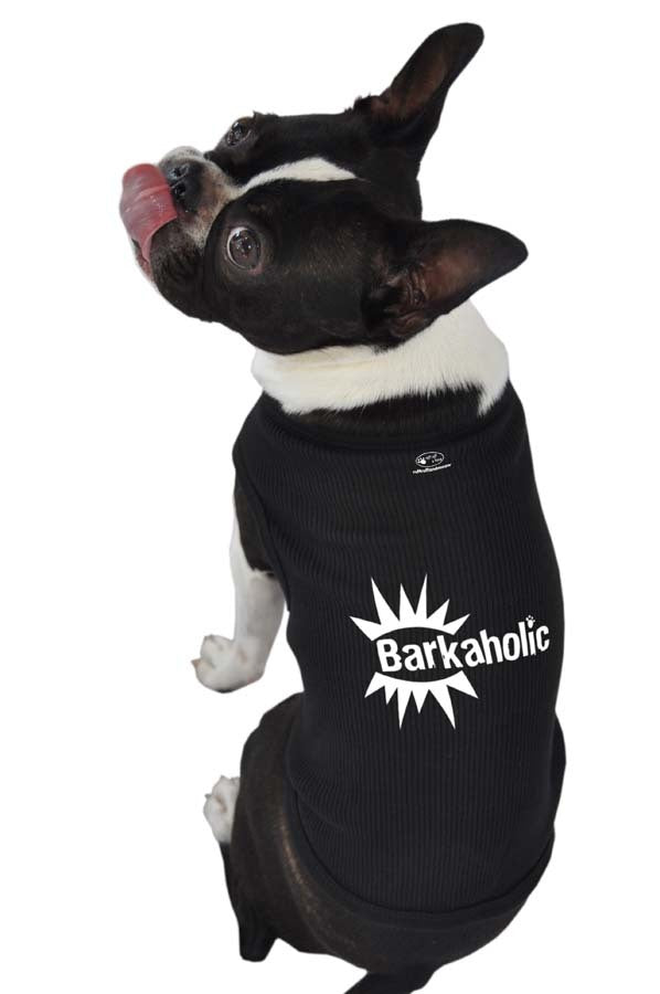 Poocheo: Barkaholic Tank Top for Dogs by Ruff Ruff & Meow