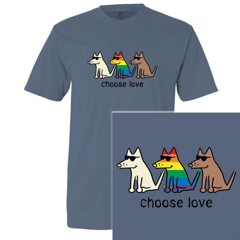 Poocheo.com: Pride Dog Lover T-Shirt - Choose Love