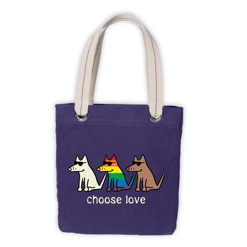 Teddy the Dog Tote - Choose Love