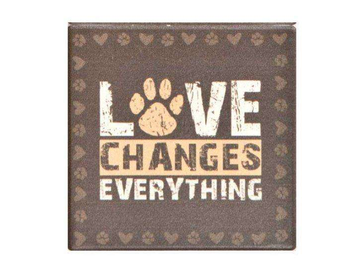Poocheo:Stone Coaster Set of 4 - Love Changes Everything