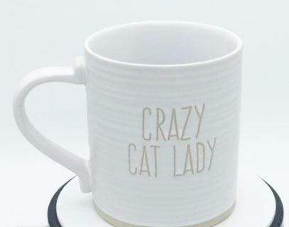 Crazy Cat Lady (White)- Mug by Spectrum
