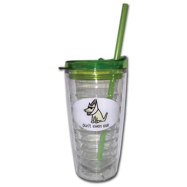 Poocheo.com: Dog Lover Insulated Tumbler - Don't Even Ask