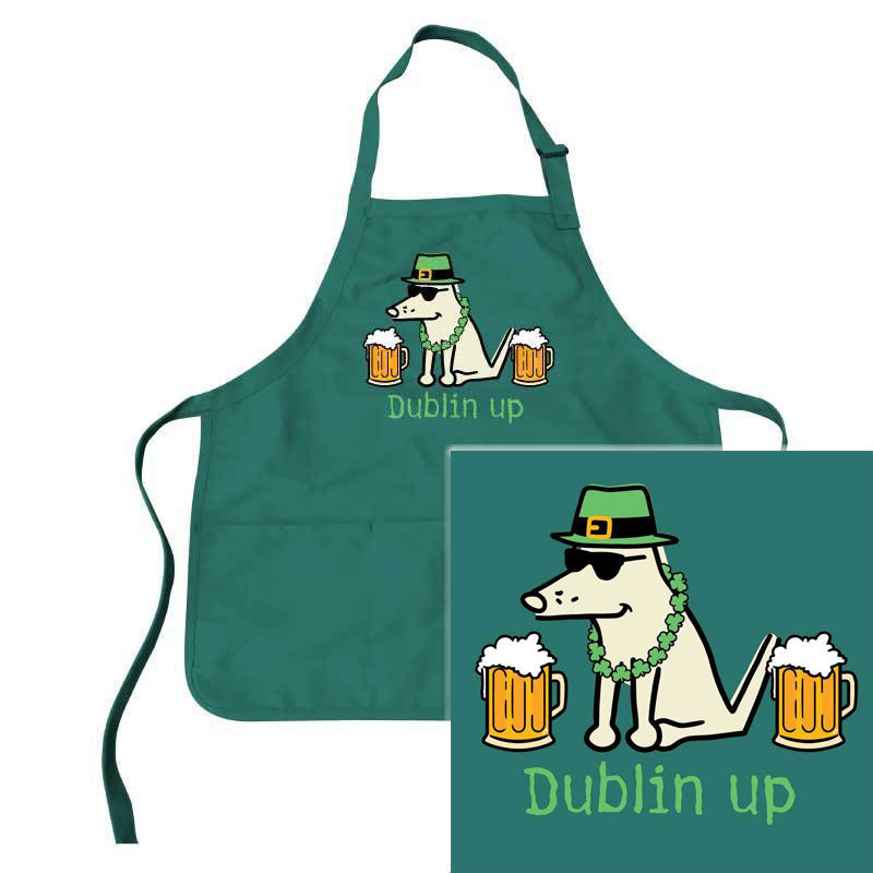 St. Patrick's Day Dog Lover Apron - Dublin Up