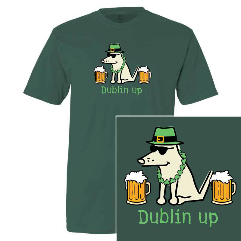Poocheo.com: St. Patrick's Day Dog Lover T-Shirt - Dublin Up