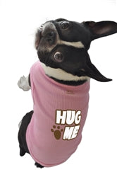 Poocheo.com: Hug Me Tank Top for Dogs by Ruff Ruff & Meow (Available in Blue or Pink)