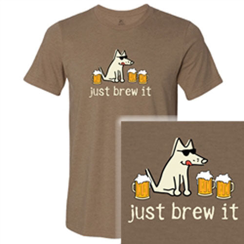 Teddy the Dog Lightweight Tee - Just Brew It