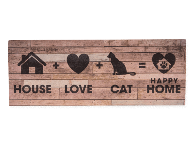 Wood Pallet Box Sign - House+Love+Cat=Happy Home