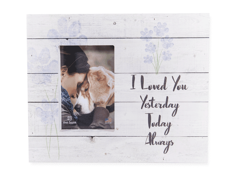 Wood Pallet Box Picture Frame - I Loved You Yesterday, Today, Always