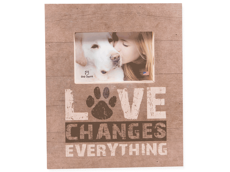 Wood Pallet Box Picture Frame - Love Changes Everything