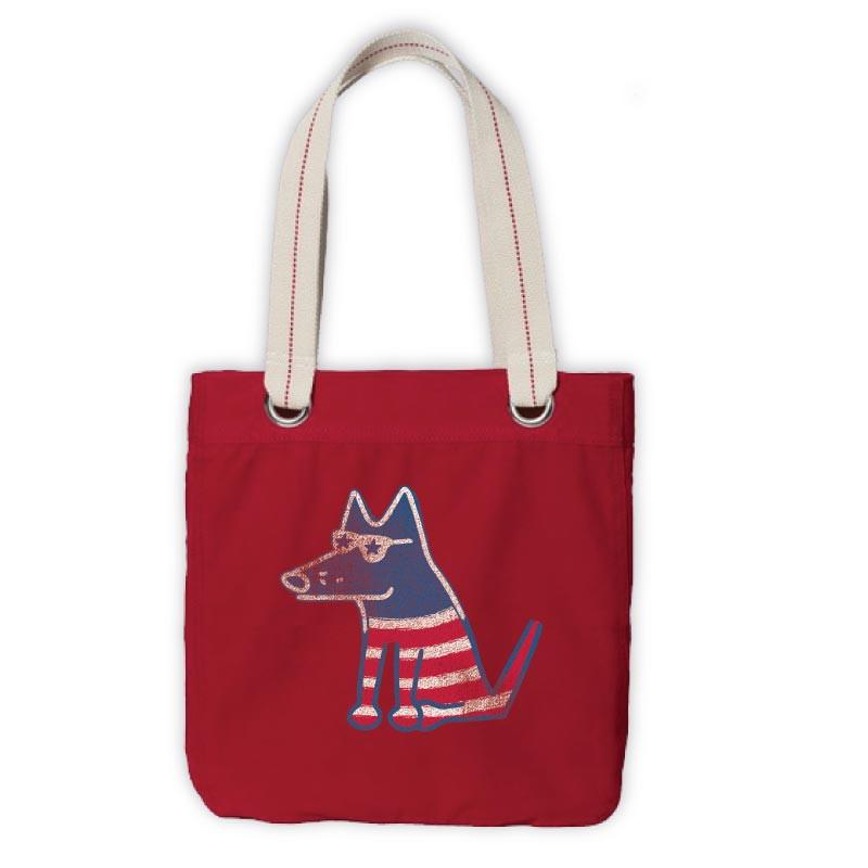 Teddy the Dog Tote - Patriotic Teddy