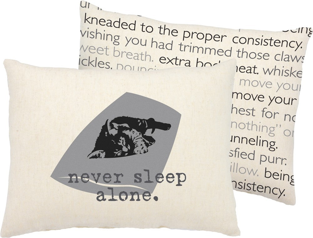 Throw Pillow - Cat - Never Sleep Alone