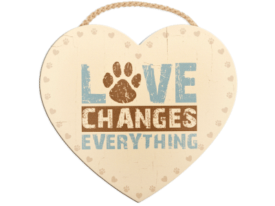 Wood Wall Sign - Love Changes Everything