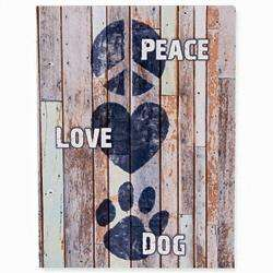 Poocheo:Wood Pallet Box Sign - Peace Love Dog