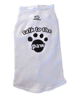 Poocheo:Talk to the Paw Tank Top by Ruff Ruff & Meow (Available in White or Black)