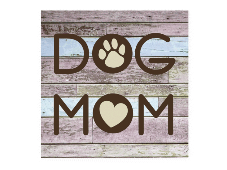 Poocheo:Wood Pallet Magnet - Dog Mom