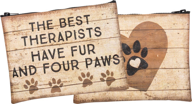 Zipper Pouch - The Best Therapists Have Fur And Four Paws