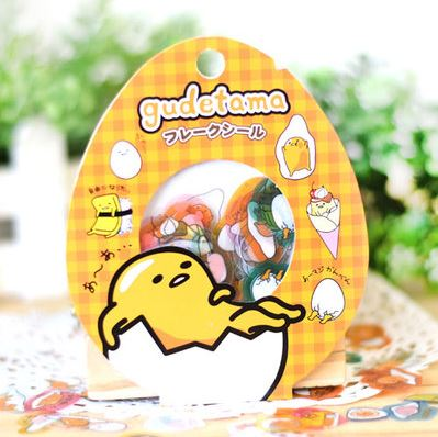 Gudetama Decal Stickers Series 1 (Orange) - 60pcs