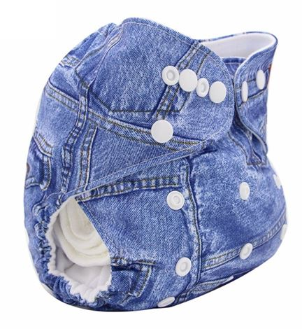 Daily-Soft Washable Diapers (Denim)