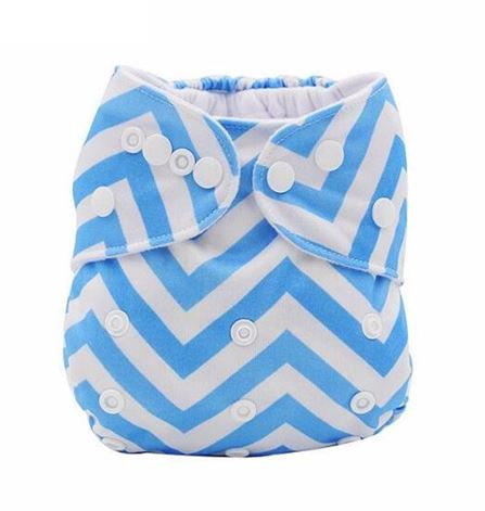 Daily-Soft Washable Diapers (Blue Stripes)
