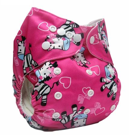 Daily-Soft Washable Diapers (Pink Zebra)