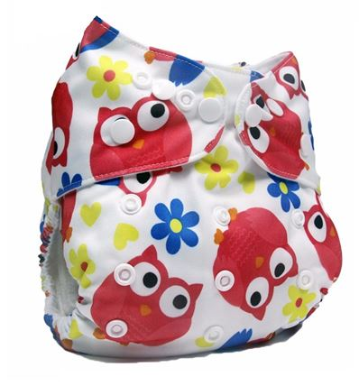 Daily-Soft Washable Diapers (Owl)