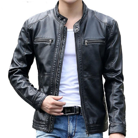Bikers' Faux Leather Jacket