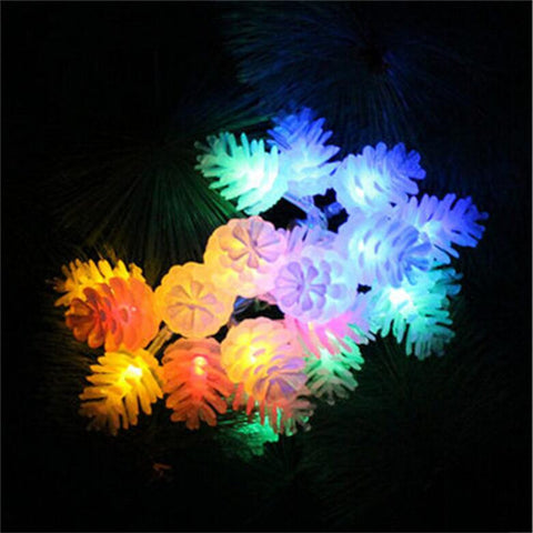 4M/13Ft 20-LEDS Pinecone String Lights - Flashing and Solid Light Mode