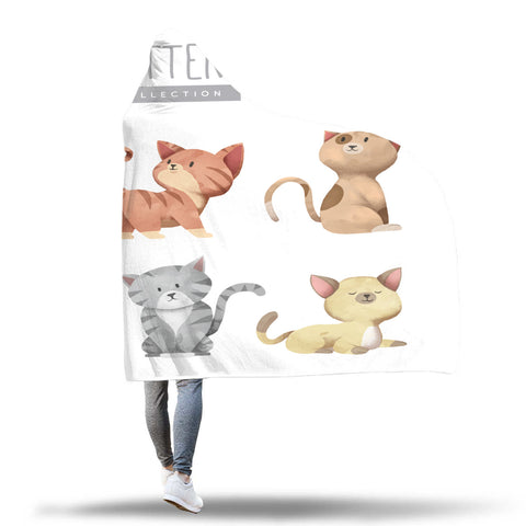 Kitten Collection Hooded Blankets